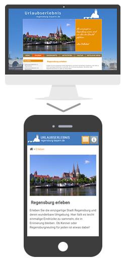 mobile Website Regensburg-Bayern.de