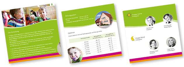 Innenteil Broschüre Kindergarten und Kinderkrippe Rain