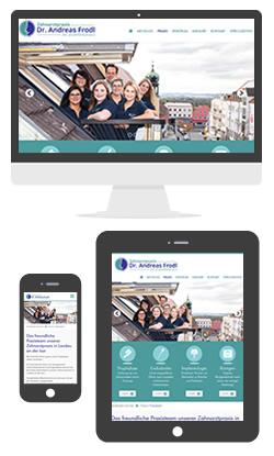 Website Zahnarzt Dr. Frodl in Landau an der Isar