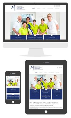Website Zahnarzt Klemens Mark & Dr. Bernhard Mark