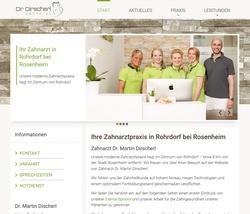 Screenshot Website Zahnarztpraxis Dr. Dirscherl in Rohrdorf bei Rosenheim