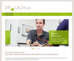 Screenshot Website Arztpraxis Dr. Steffen Lach - Werder (Havel)