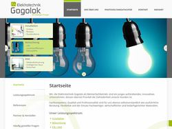 Screenshot Website Elektrotechnik Gogolok GmbH in Schönach