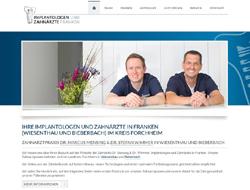 Screenshot Website Zahnarztpraxis Dr. Mensing & Dr. Wimmer (Wiesenthau und Bieberbach)