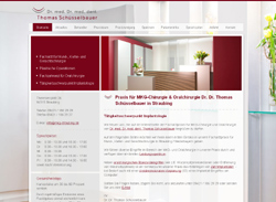 Screenshot Website Praxis Dr. Dr. Thomas Schüsselbauer in Straubing