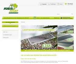 Screenshot Onlineshop Preis Insektenschutz in Perkam