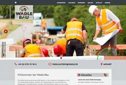 Website Wadle Bauunternehmung GmbH