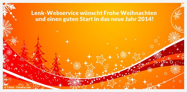 Lenk-Webservice wünscht frohe Weihnachten 2013